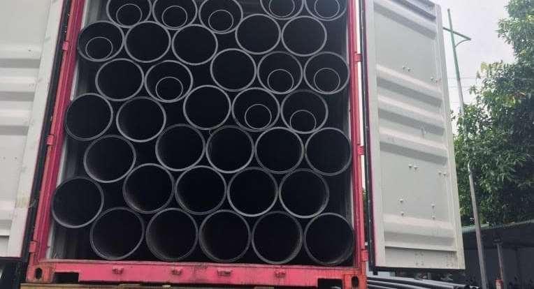 Đóng container ống nhựa HDPE SuperPlas đi Myanmar