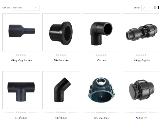 Phụ kiện ống nhựa HDPE vô cùng đa dạng