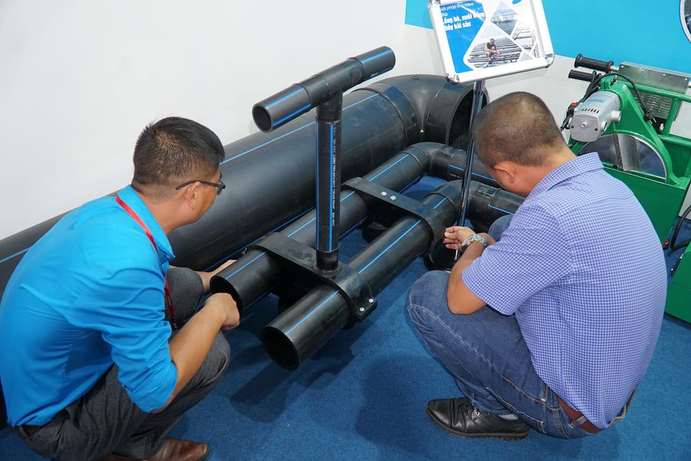 Giải pháp ống nhựa HDPE làm lồng bè nuôi trồng thủy hải sản được nhựa Super Trường Phát mang đến hội chợ VietBuild 2019