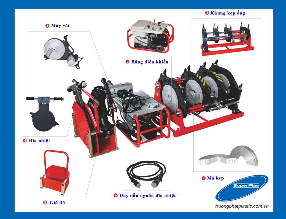 Máy hàn nhiệt đối đầu cho ống nhựa HDPE SuperPlas
