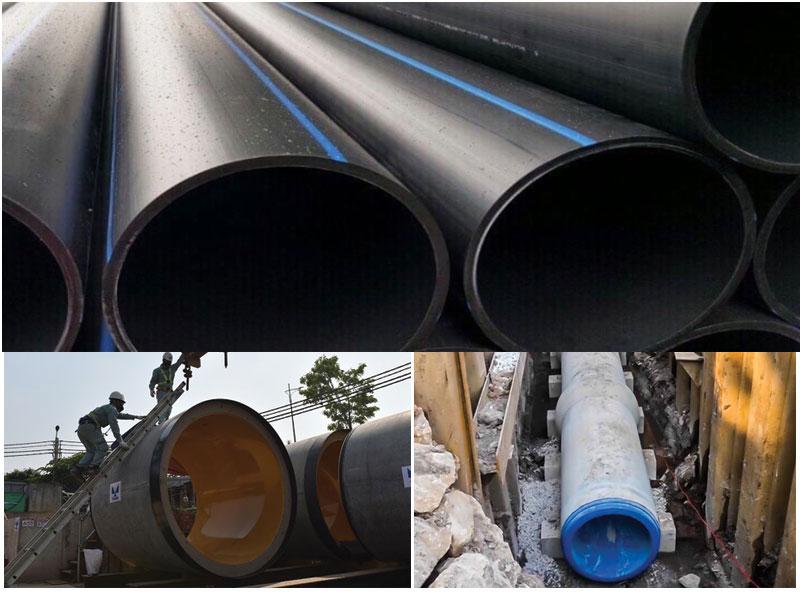 Các loại ống cống đường kính lớn trong dự án hồi sinh sông Tô Lịch.